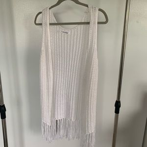 Maurices White Knitted Shall